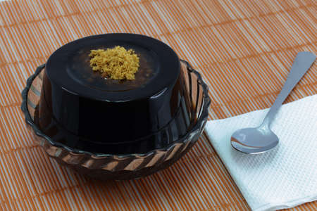 The scientific name Mesona chinensis,Chinese Dessert like jelly  photo