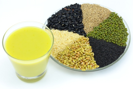 brown rice and whole grains  Stock Photo