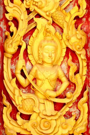 Thai Buddhist temple in the motifs  This is a public property owners to make a donation to the site  Stock Photo - 13470251