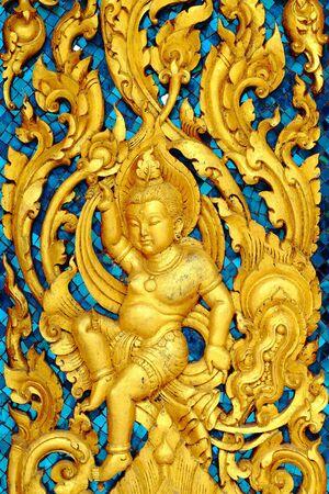 Thai tempio buddista nei motivi Questa è una proprietari di immobili pubblici per fare una donazione al sito