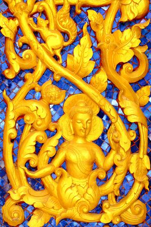 make public: Thai Buddhist temple in the motifs  This is a public property owners to make a donation to the site  Stock Photo