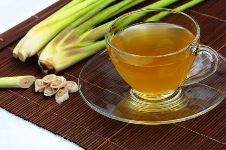 The lemon grass and lemon grass tea  Stock Photo