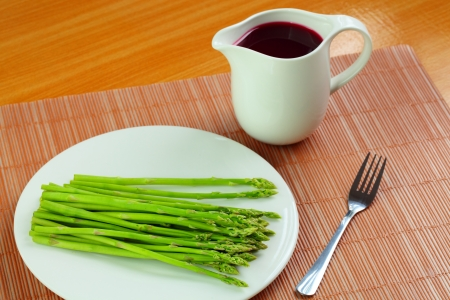 aquatic herb: Asparagus with juice