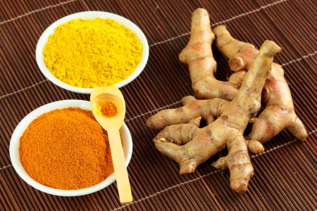 turmeric: Fresh turmeric powder and turmeric powder with the drug
