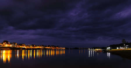Night scenery along the river  photo