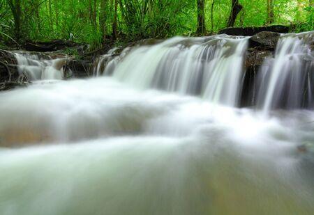 soi: Part of Soi Sawan waterfall  National Park in Pha Taem Ubon Ratchathani Thailand