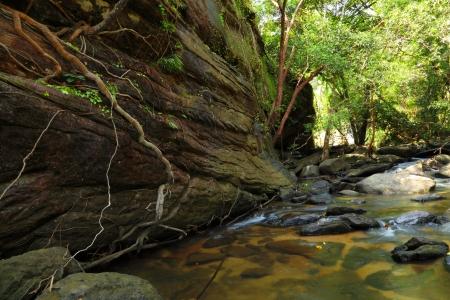 Part of Soi Sawan waterfall  National Park in Pha Taem Ubon Ratchathani Thailand  Stock Photo - 16131301