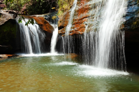 Part of Soi Sawan waterfall  National Park in Pha Taem Ubon Ratchathani Thailand  photo