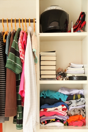 closet door: Inside the wardrobe