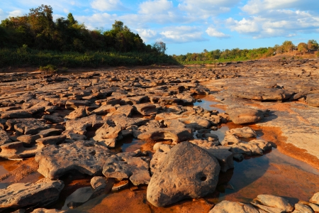 The rock in the Rapids  Stock Photo - 16856932