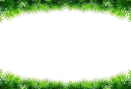 Frame of bamboo leaves  Stock Photo - 16856906