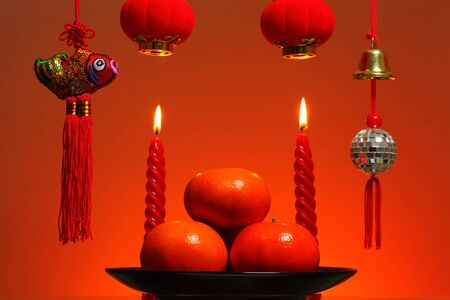 Chinese New Year Background  Stock Photo - 17564037