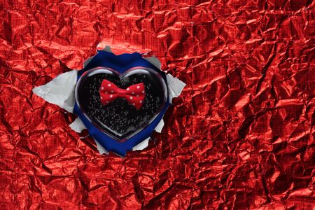 Paper punch and the heart. Stock Photo - 18310330