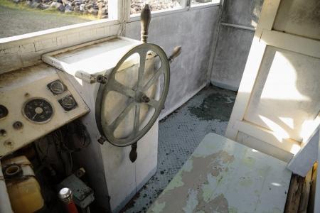 Interior of ancient seafaring captain. photo