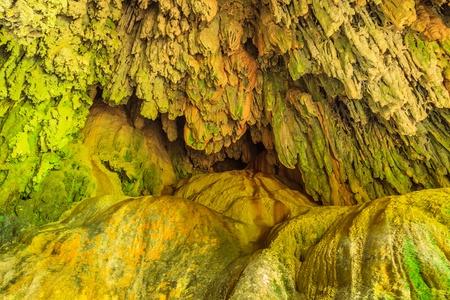 limestone caves: Limestone caves in Erawan Waterfall, Kanchanaburi Thailand