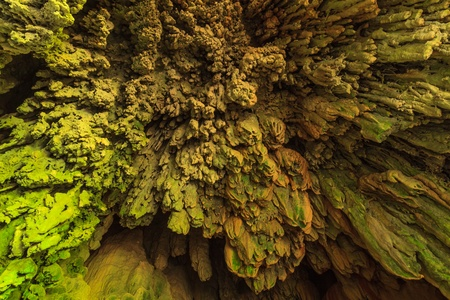 Limestone caves in Erawan Waterfall, Kanchanaburi Thailand Stock Photo - 21129083