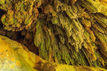 Limestone caves in Erawan Waterfall, Kanchanaburi Thailand Stock Photo - 21129077