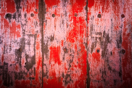 disintegration: Wood floor with red disintegration
