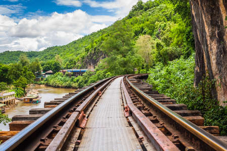 Railway Bridge tham krasae Kanchanaburi thailand  photo