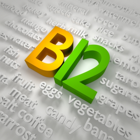 3d letters in concept is b12 and the name of the food.