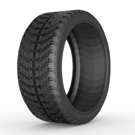 3D tire on white background. photo
