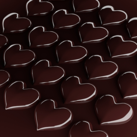 3d heart chocolate coated candy. photo