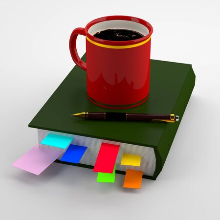 coffee time: 3d idee astratte Tempo del caff�.