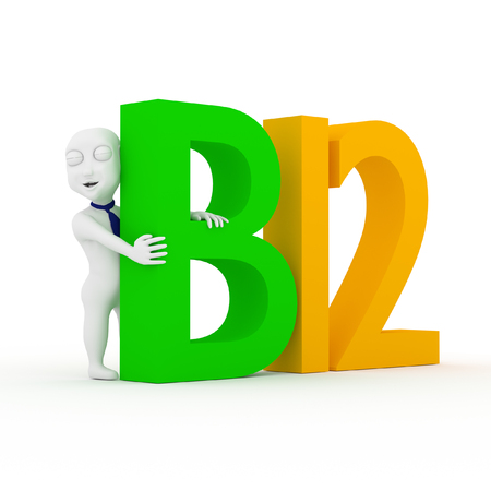 3d children with number b12. photo