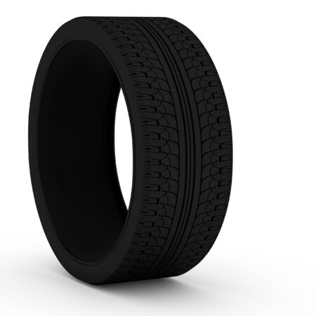 tyre tread: 3d car tires in the background Stock Photo