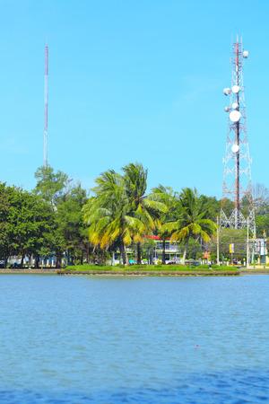 Views of the park in daytime Chanthaburi Thailand.