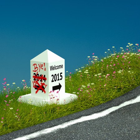 3d rendering of kilometer is signposted to 2015.