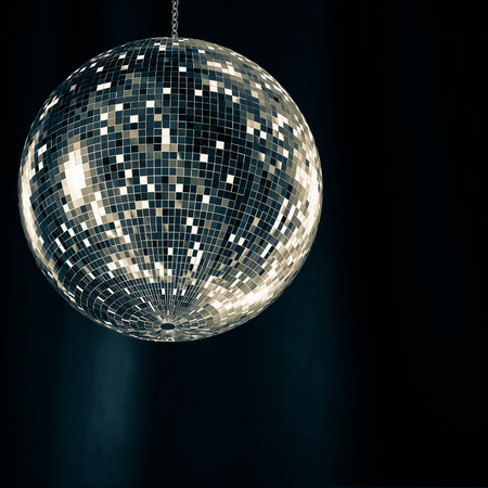 mirror ball: Mirror Ball Classic in the background 3d rendering. Stock Photo