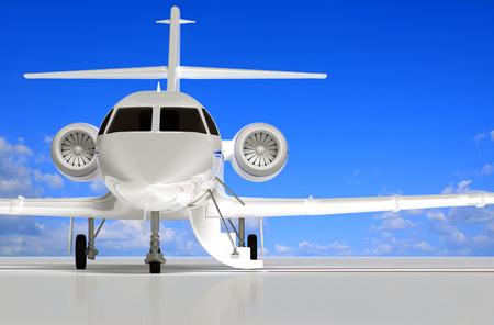 puerta abierta: Jet que se está abriendo las puertas a la espera de representación de modelos 3D.