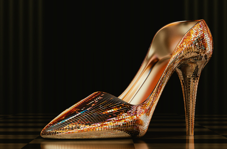 High heels mirror in a beautiful background. Stock Photo