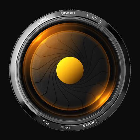 fine arts: 85mm lens in front 3D rendering.