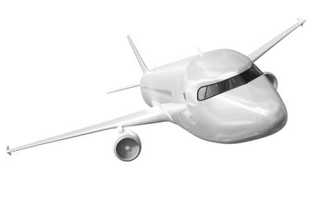 private jet: Airplane on a white background 3d rendering.