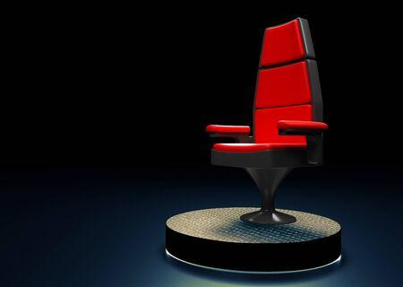 comité d entreprise: Chaise moderne sur scène dans le rendu 3D fond.