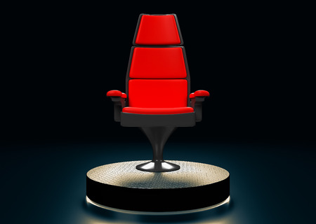 modern chair: Modern chair on stage in the background 3D rendering.