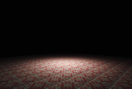 building lot: Ground in the darkness 3D rendering. Stock Photo