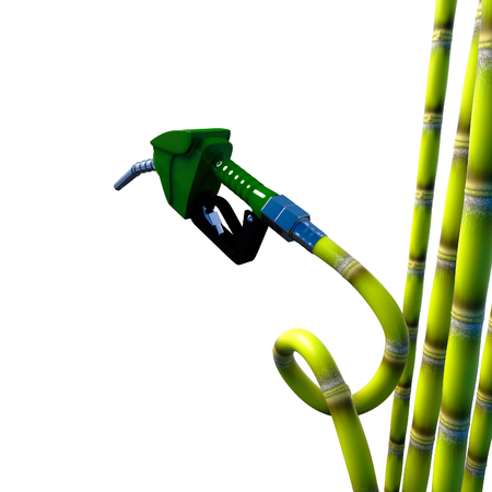 sugar cane: Design fuel nozzle from sugar cane 3d rendering.