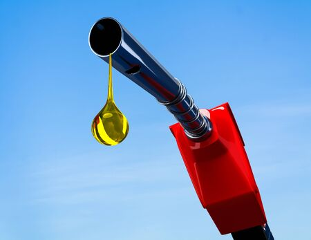 petrol pump: Fuel nozzle in the background 3d rendering. Stock Photo
