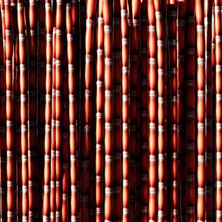 sugar cane: Sugar cane red background 3d rendering. Stock Photo