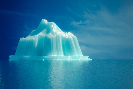 Iceberg in the sea 3d render. Stock Photo