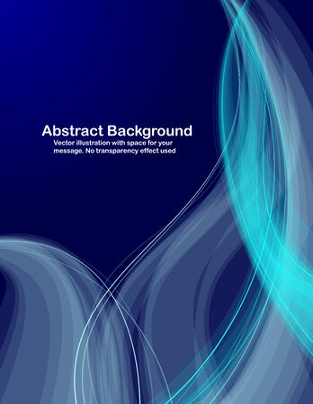 Abstract  transparent waves on dark blue  background.