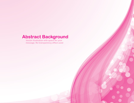 Abstract colorful background with transparent waves and transparent messy circles. Vectores