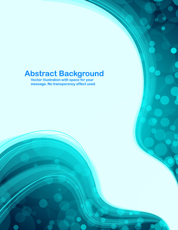 Abstract fresh background with transparent blue waves. Stock Vector - 6136077