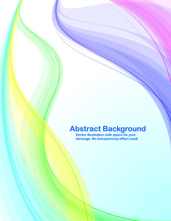Abstract background with colorful transparent waves.