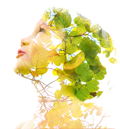 Double exposure with an ecological concept