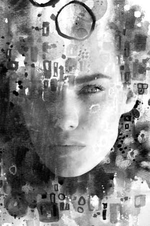 Paintography. A portrait combined with a painting