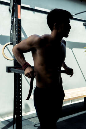 athlete young man working out